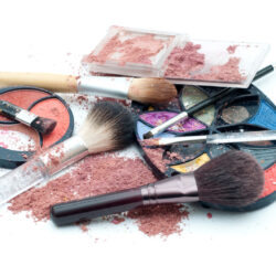 Used,Makeup,Isolated,On,White