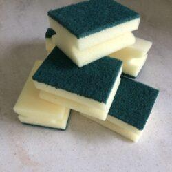 Plastic scrubby sponges